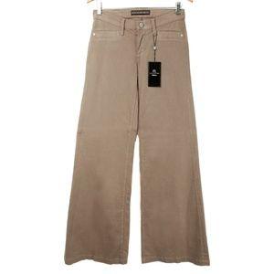 NWT Rock & Republic Brown Noemi Wide Leg Pants 25